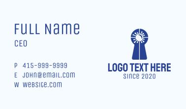 Blue Virus Keyhole Business Card