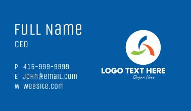 Modern Multicolor Company Business Card