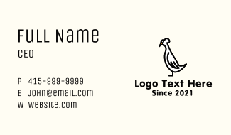 Tufted Roman Geese Mascot Business Card