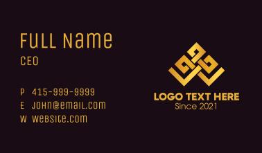 Golden Geometric Tiara Business Card
