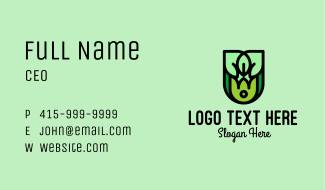 Abstract Nature Emblem Business Card