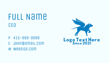 Blue Winged Dog  Business Card
