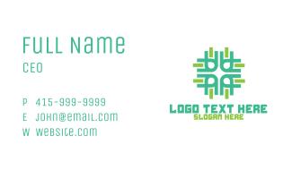 Green Business Company Shape Business Card