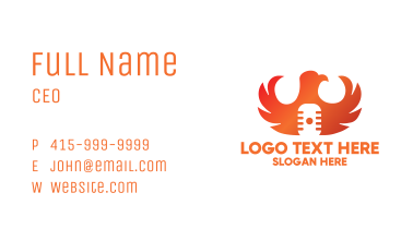 Eagle Microphone Business Card