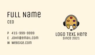Online Art Class Business Card