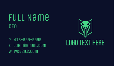 Viper Sword Tongue  Business Card