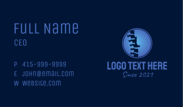 Chiropractic Letter Business Card