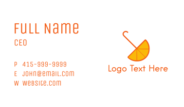 Orange Umbrella Business Card