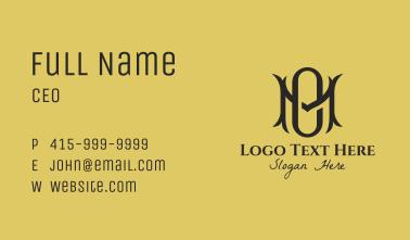 Fancy M & O Monogram  Business Card