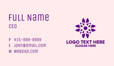 Purple Pretty Flower Business Card