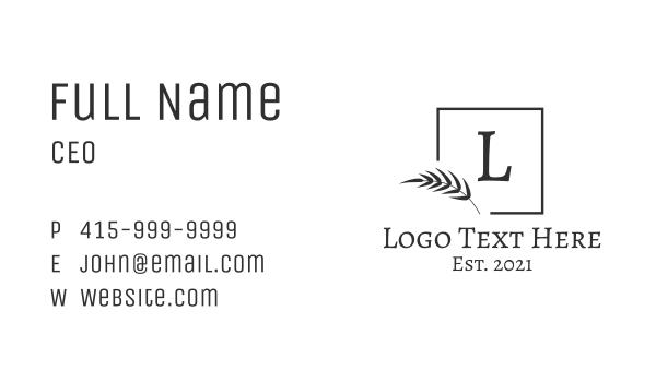 text logo - Luxury Perfume Letter Business card horizontal design