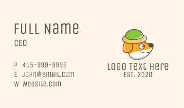 Cute Puppy Hat Business Card