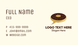 Donut Delivery Chat Business Card