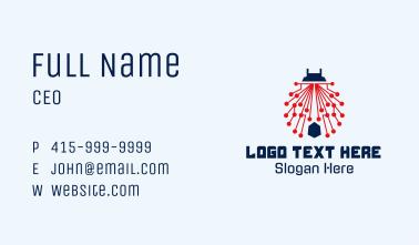 Digital Circuit Ladybug  Business Card