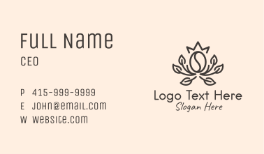 Brewed Coffee Outline Business Card