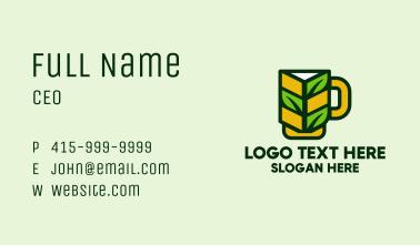 Organic Beer Mug  Business Card