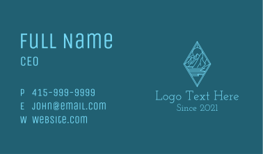 Blue Diamond Mountain  Business Card