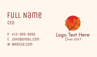 Autumn Season Emblem Business Card