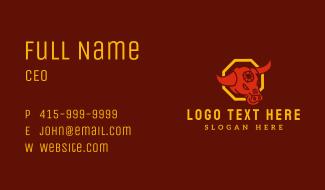 Zodiac Ox Head Business Card