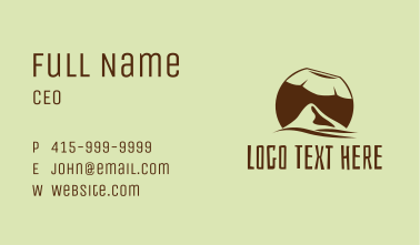 Tropical Coconut Mountain  Business Card