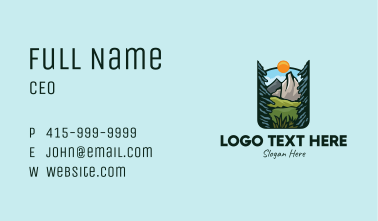 Nature Outdoor Summit Business Card