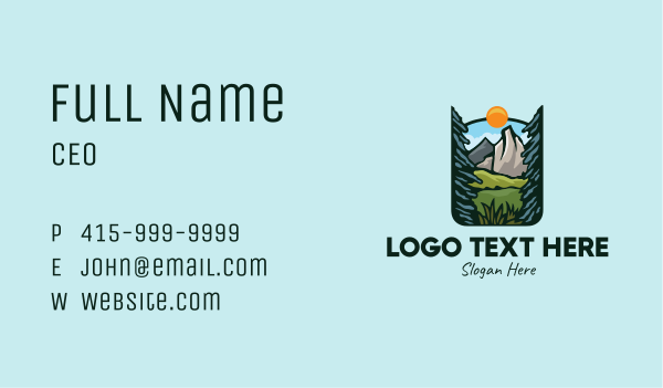 scenery - Nature Outdoor Summit Business card horizontal design
