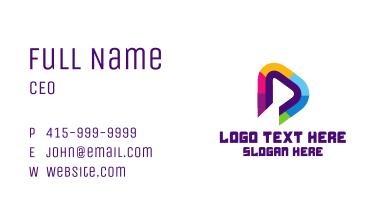 Media Player Button Business Card