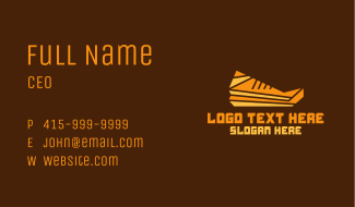 Abstract Geometric Shoe Business Card