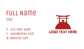 Japanese Food Business Card