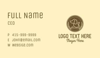 Pet Dog Badge Business Card