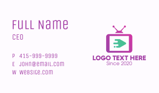 Media Television Screen Business Card