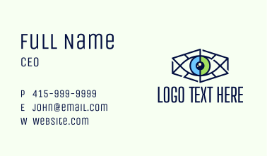 Minimalist Hexagon Eye Business Card