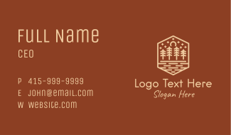 Rustic Forest Outline Business Card