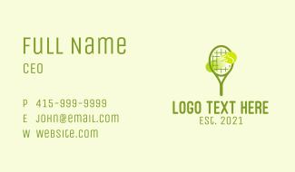 Tennis Ball Racket  Business Card
