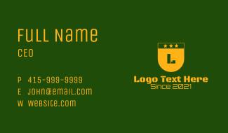 Golden Military Letter  Business Card