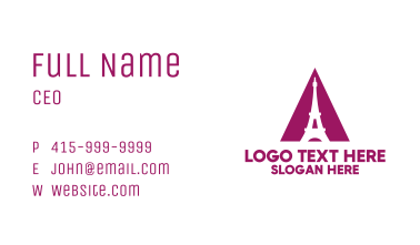 Purple Triangle Tower  Business Card
