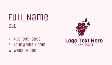 Grape Juice Plant Business Card