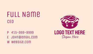Meat Grill Mascot Business Card