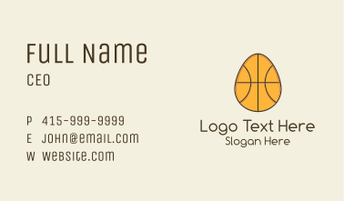 Egg Basketball Business Card