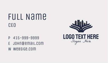 Winged Urban Cityscape  Business Card
