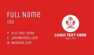 Red Koi Fish  Business Card