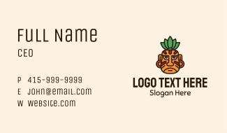 Ancient Mayan Warrior Face Business Card