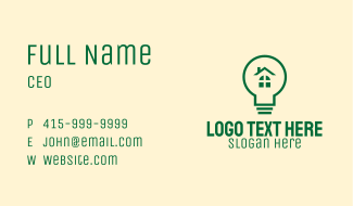 Eco Friendly Light Bulb Business Card