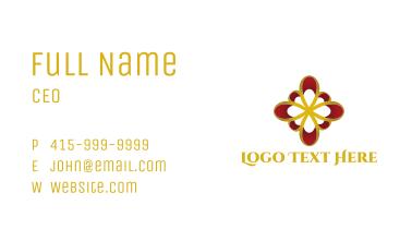 Golden Flower Business Card