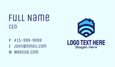 Home Internet Signal Business Card