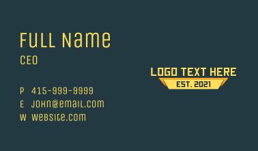 Yellow Modern Wordmark Business Card