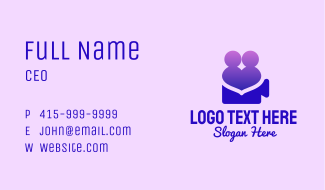 People Heart Video Business Card