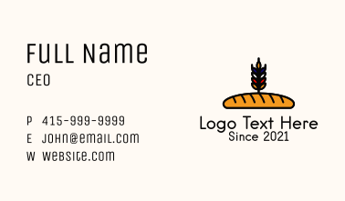 French Bread Loaf  Business Card