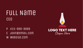 Antique Candle Lamp  Business Card