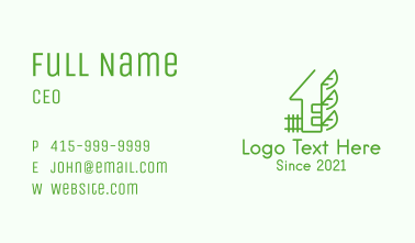 Sustainable House Leaves Business Card